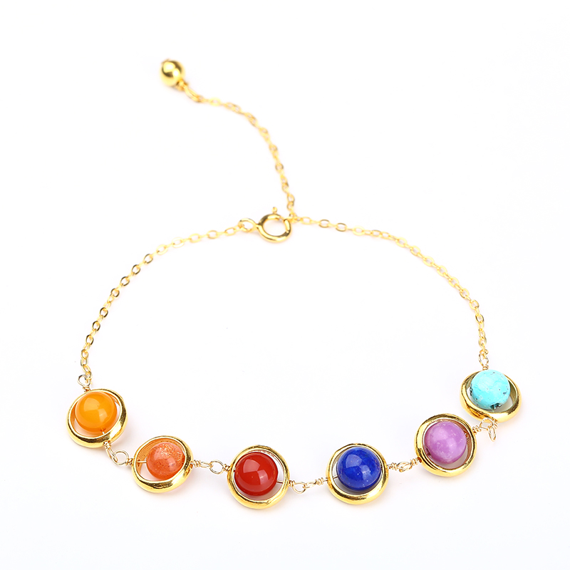 The Avengers Infinity POWER Stone Bracelet 925 Silver Thanos Charm Bracelet Infinity War 6 Colors Stones Bracelet for Women Men