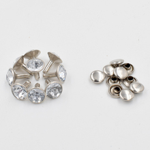 100 sets of each package. diamond clasp.8mm tape rivets. Sided rivet. DIY accessories. Double-sided rivet . Many colors mixed