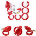 Male plastic cage red CB6000S 80mm*32mm penis ring sleeve cock cage adult men derailment guard chastity toy erotic sexo shop new