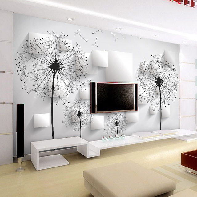 Elegant Dandelion Wallpaper 3D Photo Wallpaper Natural Scenery Wall Mural  Art Room Decor Club Bedroom TV