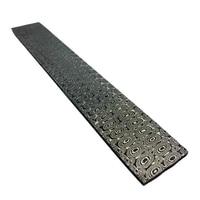 DIY knife Damascus steel Rose Sandwich Pattern steel Knife blade blank Heat Treatment VG10