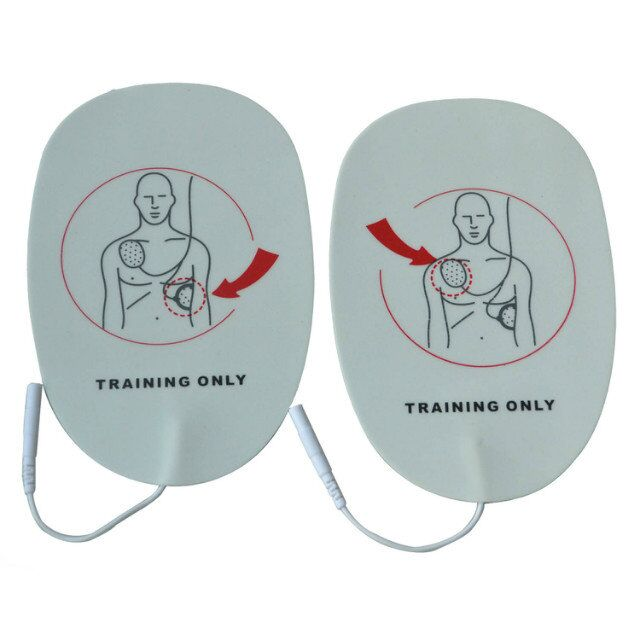 Wholesale 100 Pairs/pack Adult AED Training Machine Pads Use For HeartStart Trainer Simulated First Aid Training Sticky Patches 50pack lot aed electrode pads replacement training patches use with aed trainer machine self adhesive only for training use