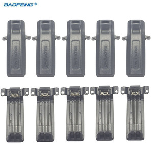 New 100% Original 10pcs Belt Clip clamps For Baofeng Uv-82 cb Two Way Radios Walkie Talkie Accessories Uv 82 8w Back Metal Clips