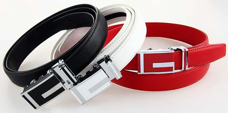 High Quality Genuine Leather Belt for Women Cowhide Belt Woman Fashion Women Belts with Automatic Buckle Gift for Big Size Belt 3