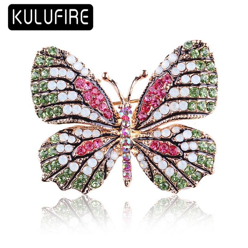 ULUFIRE color butterfly Brooches for women cadeau noel juego de tronos broschen broches animales mujer buho regalos de navidad