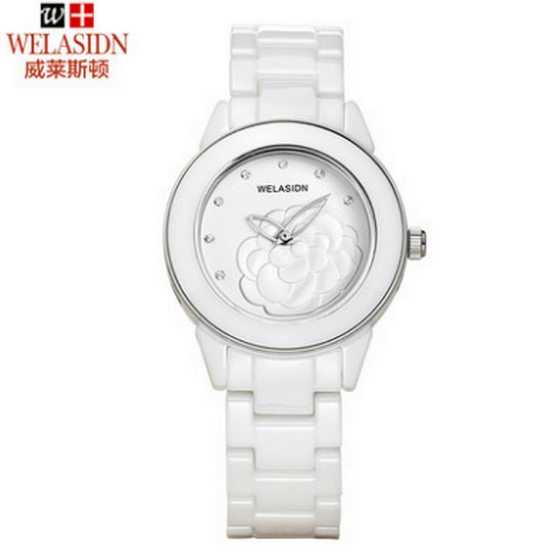 Special Ladies fashion female butterfly white ceramic waterproof quartz watch women reloj mujer Gold Lady Girl