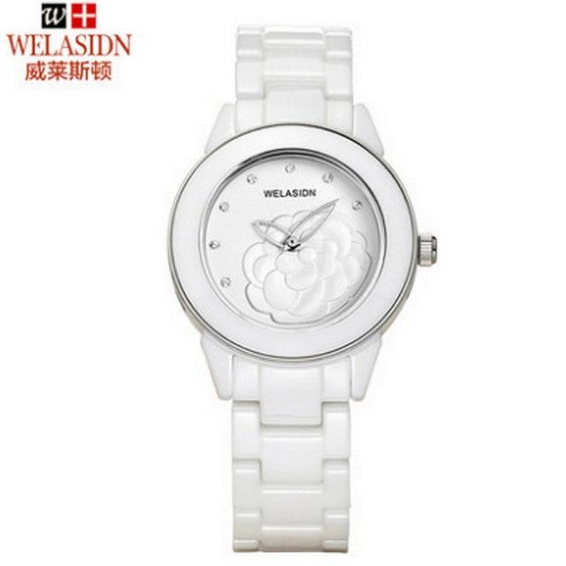 Special Ladies fashion female butterfly white ceramic waterproof quartz watch women reloj mujer Gold Lady Girl Sports watches