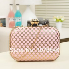 New 2014 mini Female women Evening Bag ladies Luxury handbag day Clutch Purse leather wallets Wedding Party chain shoulder Bags
