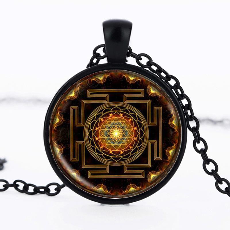 Модное 2017 буддистское ожерелье lukeni с подвеской из шри Янтры