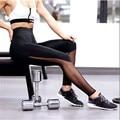 Новых женщин Способа Спортивные Леггинсы лето перспективность Черный лоскутные повседневная Тренировки брюки Фитнес Леггинсы женщин
