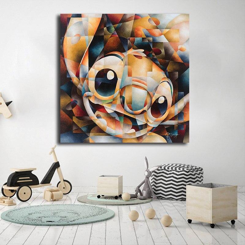 Puntada de Lilo y Stitch pared arte HD lona carteles impresiones pintura de pared para sala de vivero nórdico a casa decoración