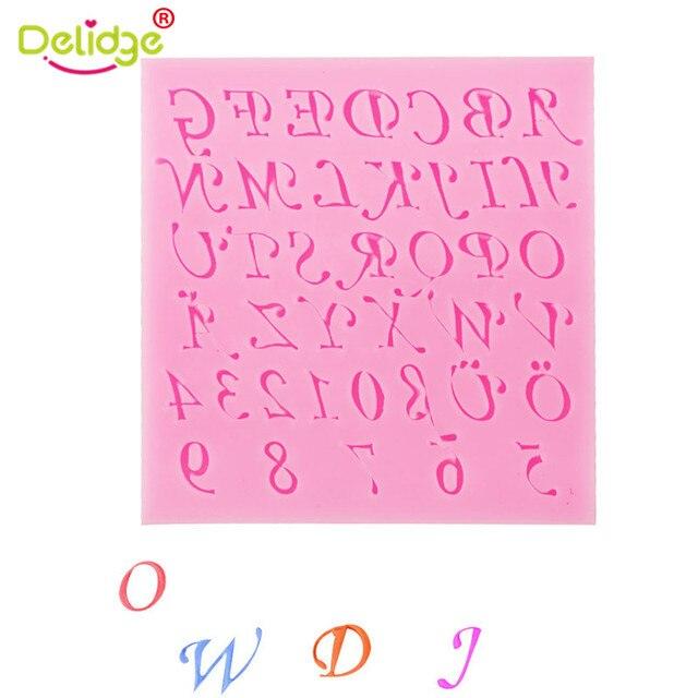 Delidge 1 Stück 3d Englisch Brief Silikon Fondant Form Spezielle