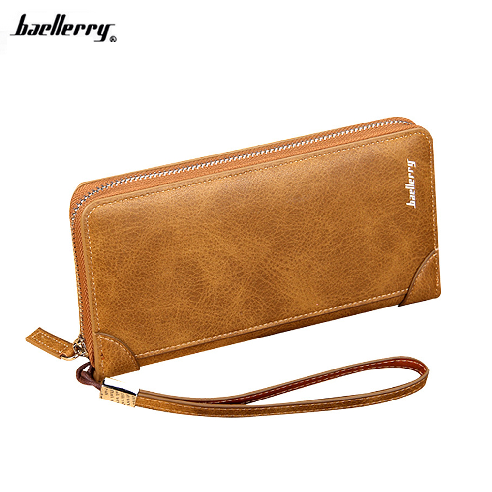 New Brand Baellerry Male PU Leather Purse Men's Clutch Wallets Handy Bags Business Carteras Wallets Purses Card Holder 2016 famous brand new men business brown black clutch wallets bags male real leather high capacity long wallet purses handy bags