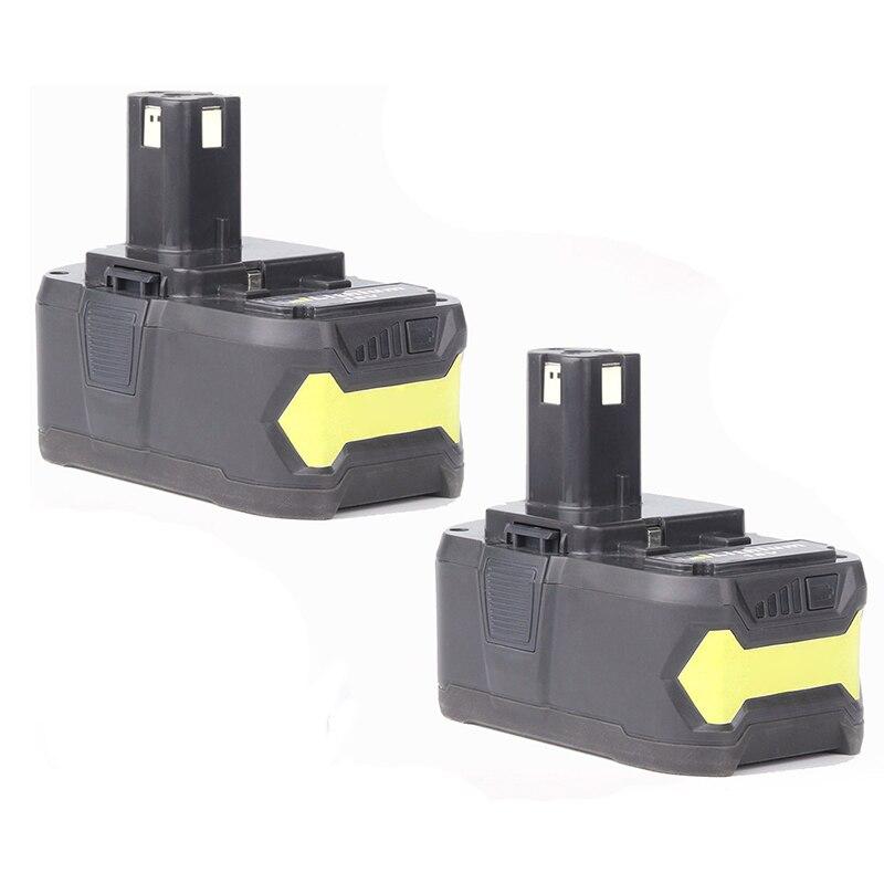 2x 18V 4.0AH Li-ion Battery for RYOBI One Plus RB18L25 RB18L50 P108 P107 P104