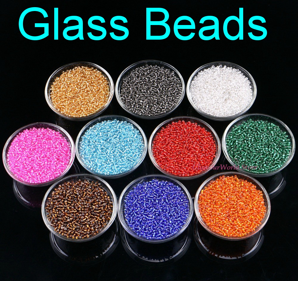 2mm Czech Sewing Glass Beads Seed Sew On Garment Spacers Mixed Color Straight Hole Bead For Bag Party 2000Pcs/Pack