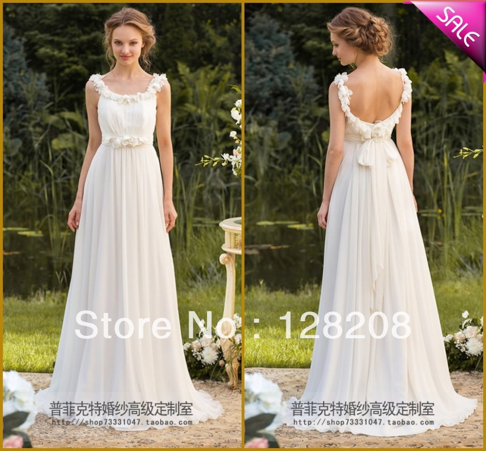 garden wedding dress Aliexpress com Buy Fashion Petal Flower Chiffon Garden Wedding Dress Custom Made from Reliable wedding dress sashes suppliers on Kell Dress