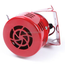 Universal 1pcs The Wind Sound Horns 12V 110dB Electric Red Car Truck Motorcycle Driven Air Raid Siren Horn Alarm Loud 50s HOT