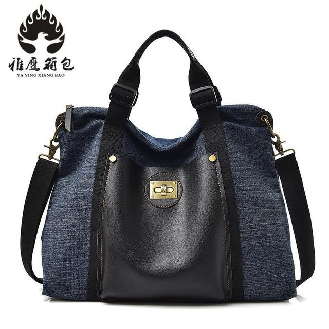 Large Capacity Blast Wave Korean Special Oversized Shoulder Bag Casual  Women Canvas Bag Handbag New Spring Women Handbags 23d832f3235e6