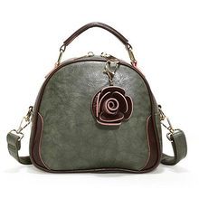 2019 New Genuine Leather Bags For Women Fahion Rose Flower Crossbody Bags High Quality Shoulder Bag Messenger Ladies Bag