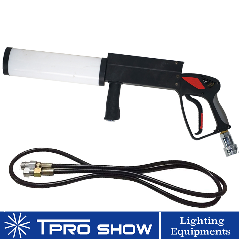 Mini CO2 Gun Hand Held LED Pistola Co2 Cryo Machine RGB Colorful CO2 Jet For Singer DJ Stage With High Pressure Gas Hose-in Stage Lighting Effect from Lights & Lighting