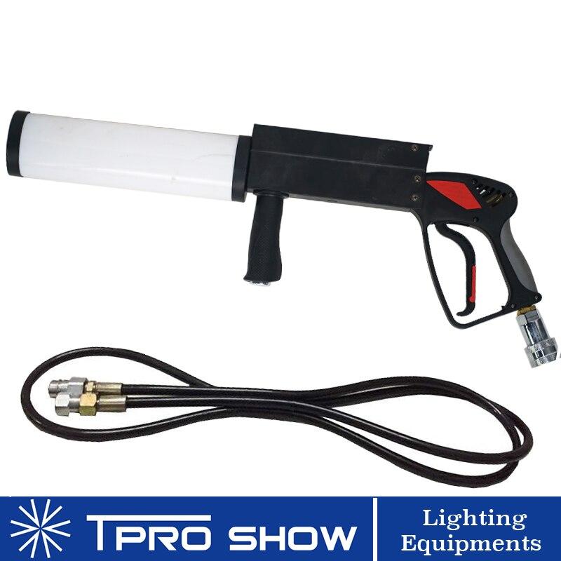 Mini CO2 pistolet à main LED Pistola Co2 Cryo Machine rvb coloré CO2 Jet pour chanteur DJ scène avec tuyau de gaz à haute pression