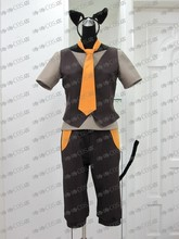 Kagamine Rin/Ren Uniforms From Vocaloid GUMI Cosplay Costume Custom Made Free Shipping +Ears+Tail