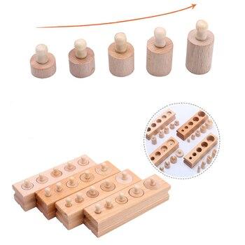 Holz Montessori Spielzeug Für Kinder Frühe Pädagogische Montessori Mathematik Spielzeug Knobbed Zylinder Montessori Materialien UA2764H