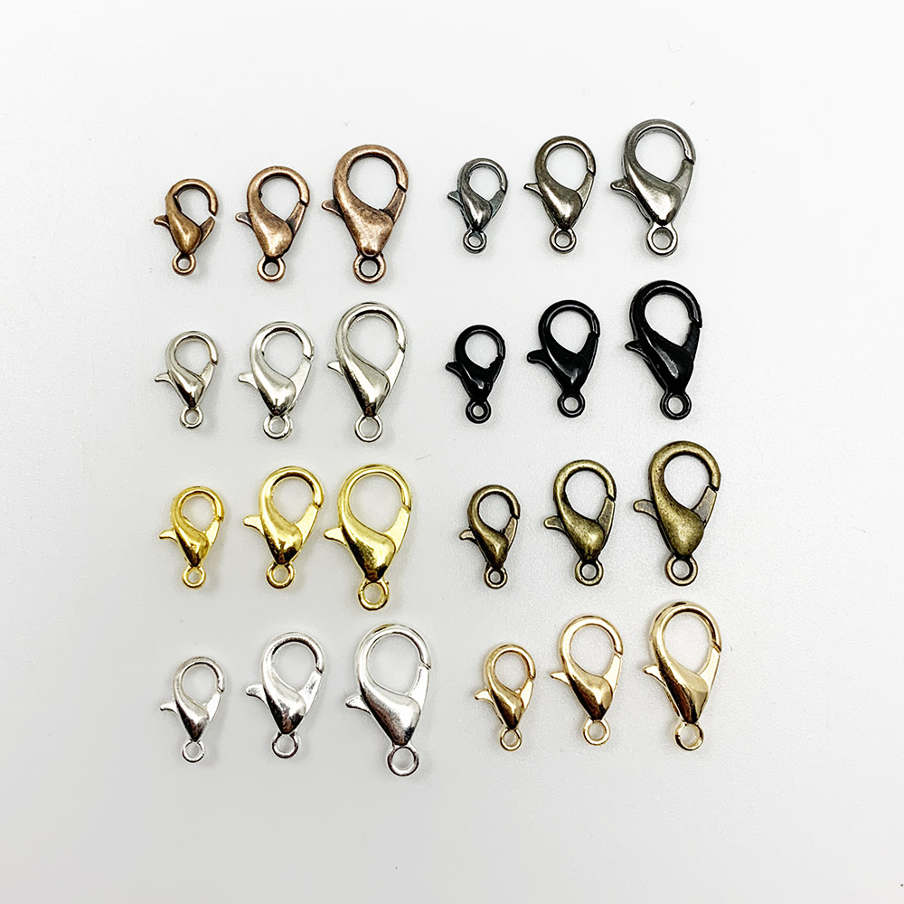 50pcs/lot Gold Silver Alloy Lobster Clasp Hooks For DIY Jewelry Making Findings Necklace Bracelet Chain Accessory Supplies jewelry making