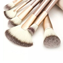Eyebrow Eyeshadow Brush Makeup Brushes 12PCS Wooden Foundation Cosmetic Bent Eyeliner Beauty Tools