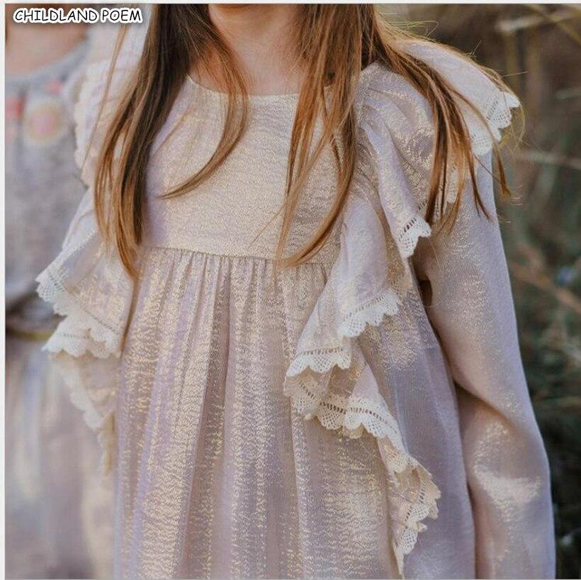 Baby Girls Dress Spring Summer 2019 Silk Kids Dresses For Girls Ruffle Lace Princess Baby Toddler Girl Dresses vetement enfant