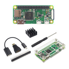 Raspberry Pi Zero WH 1GHZ 512Mb RAM with WiFi&Bluetooth 40Pin Pre-soldered GPIO Headers + Acrylic Case Heat Sink for Pi Zero W H(China)