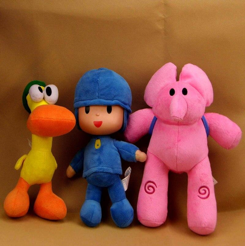 Muñecos de Peluche de Pocoyo para niños, Elly, Pato, POCOYO, Loula, 4 unidades