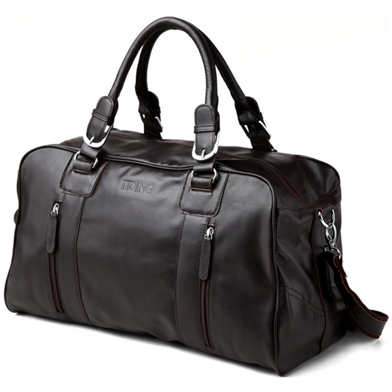 Men Leather Duffle Bag Promotion-Shop for Promotional Men Leather ...