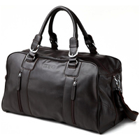 TIDING real leather duffle bag men travel bag brand portable bag casual style weekend bag 1024