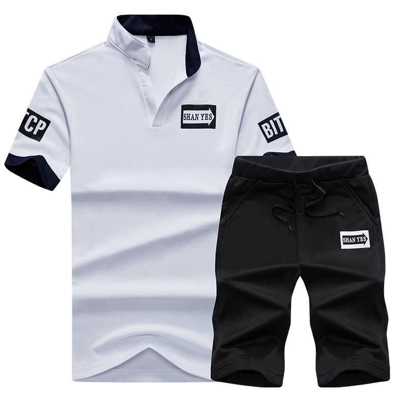 5d46c371c45 спортивный костюм мужской Летний сезон Мужская повседневная одежда  95%Хлопок толстовка мужская свитшот костюм мужской