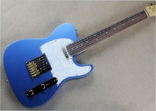 Solid metal blue gold hardware TL electric guitar , custom rosewood fingerboard 22 Frets TOP Guitar