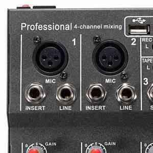 Image 4 - LEORY ミニデジタルカラオケマイクアンプ混合オーディオサウンドミキサーコンソール 4 チャンネル内蔵 48 48v ファンタム電源と USB
