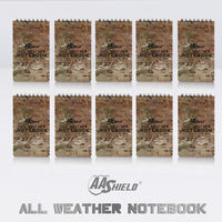 AA Shield All Weather 3 X5 Waterproof Note Camo Outdoor Map Notebook 10 PCS Free Shipping