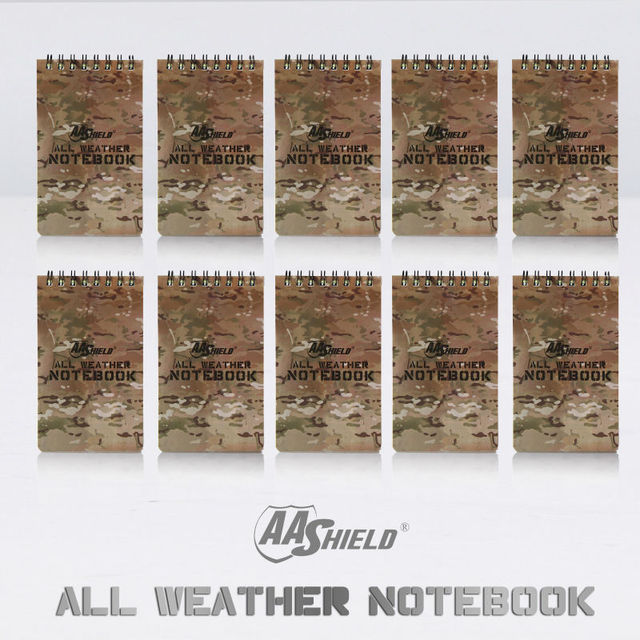 "AA Shield All Weather 3""X5"" Waterproof Note Camo Outdoor Map Notebook 10 PCS Free Shipping"