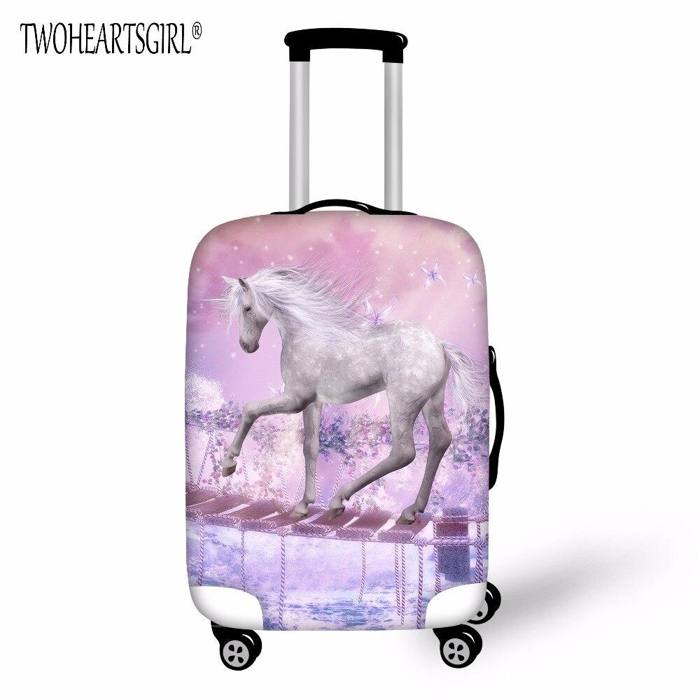 twoheartsgirl unicorn design travel accessories luggage cover dust proof protective suitcase. Black Bedroom Furniture Sets. Home Design Ideas