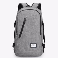 Unisex odkryty dorywczo Oxford plecak na laptopa torba szkolna w/interfejs USB na zamek błyskawiczny klamra na co dzień na zewnątrz podróży 2 stałe w Plecaki od Bagaże i torby na