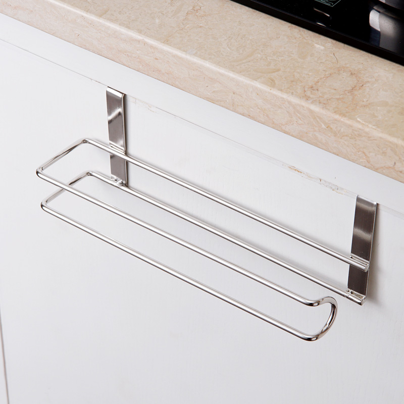 Stainless Steel Kitchen Tissue Holder Hanging Bathroom Toilet Roll Paper Holder Towel Rack