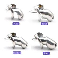 Мужская длинная короткая клетка из нержавеющей стали с замком для пениса устройство для верности птицы металлическое кольцо на член БДСМ бондаж сдерживание cb6000 секс игрушка для мужчин