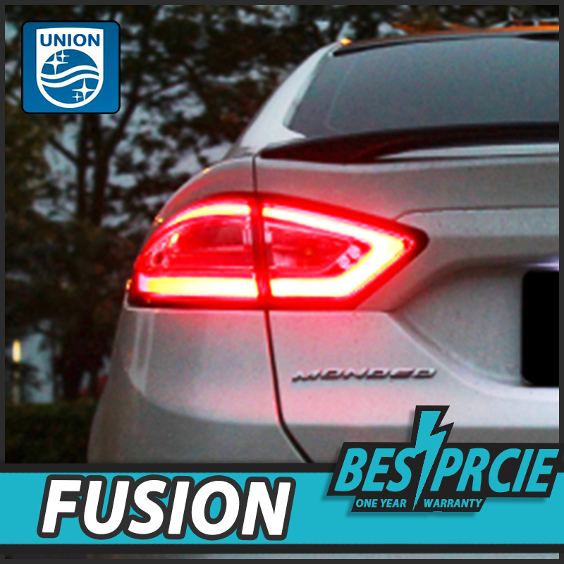UNION Car Styling Rear Tail Light DRL Daytime running light Turning Signal For Ford Mondeo Fusion 5 2013 2014 2015 Super Bright