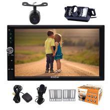 camera+Android6.0 Car Stereo Autoradio GPS Navigation 2Din GPS Car Radio In Dash Head Unit Bluetooth WiFi 1080P Video Mirrorlink