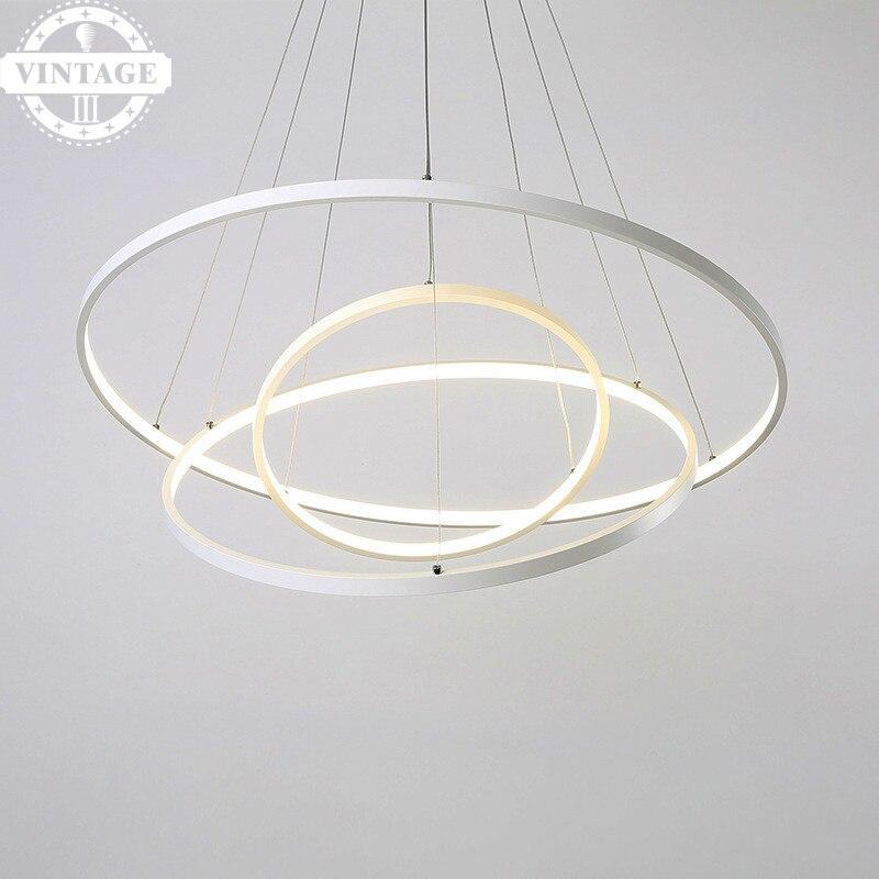 Simple Modern Led pendant lights for living dining room acrylic cerchio anello lampadario pendant  lamp lamparas modernas