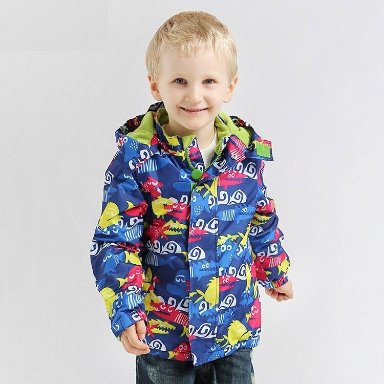 ФОТО Warm Child Coat Waterproof Windproof Baby Boys Jackets Children Outerwear For 3-12T Winter Autumn