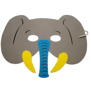 Image 4 - 12Pcs/Set New Arrival Mask Birthday Party Supplies EVA  Animal Masks Cartoon Kids Party Dress Up  Zoo Jungle Mask Party Supplies