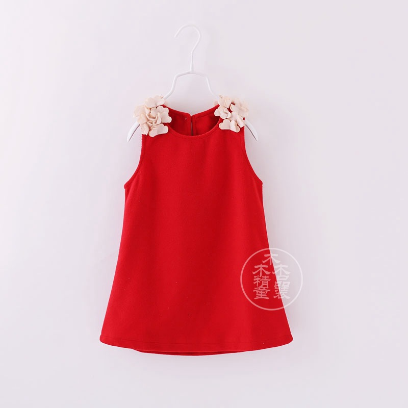 Aliexpress.com : Buy 2T 10Y baby girls dress red color woolen ...