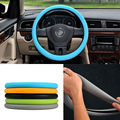 New Blue Color Soft Silicon Skidproof Odorless Universal Steering Wheel Cover